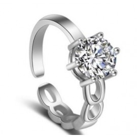 Anillo Brillante Regulable - plata 925