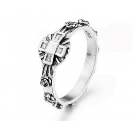 Ring ten roses - silver 925