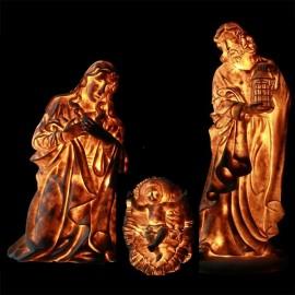 Crèche Sainte famille - Personnages Lumineuse