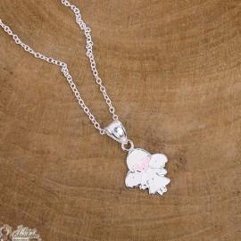 collana ciondolo angelo pastello - argento 925