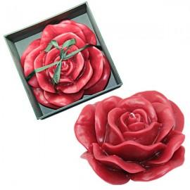 Kerze in Form einer duftenden Rose