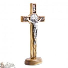 Croix Saint Benoit sur pied- 8 x 15 cm