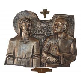 Chemin de croix couleur Bronze - fibre de verre