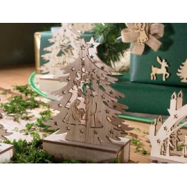 Lighted natural wood tree - LED