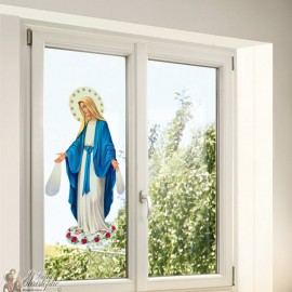 Miraculous Virgin Stickers - static window