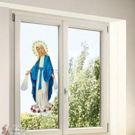 Stickers Vierge Miraculeuse - statique fenêtre