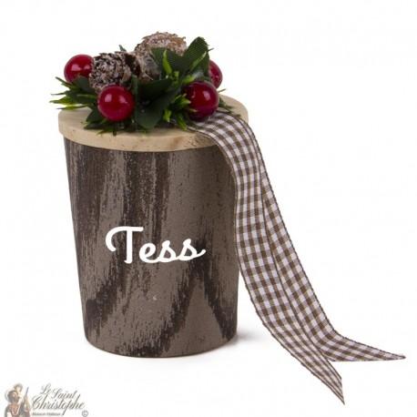 Duftkerze anpassbarer Vorname - Weihnachten