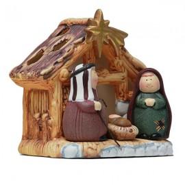 Crèche de Noël en terre cuite