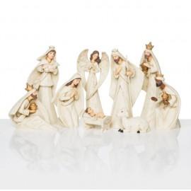 Crèche de Noël Moderne - 9 pièces