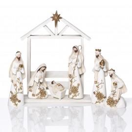 Crèche de Noël moderne -  résine