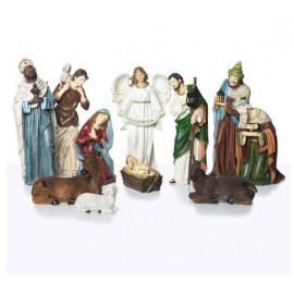 Crèche de Noël grands personnages - résine