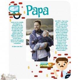 Cadre photo Papa