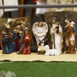 Crèche de Noël résine - 11 pièces