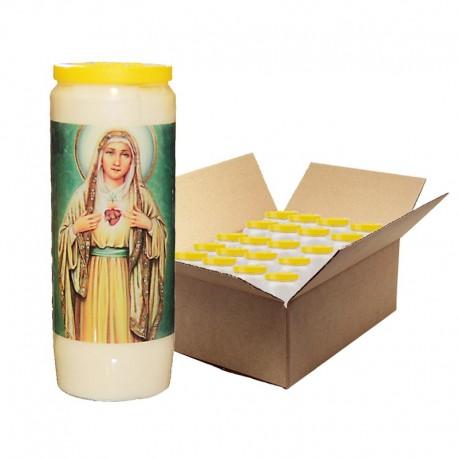 Heilig Hart van Mary Novena Kaarsen - 20 stuks