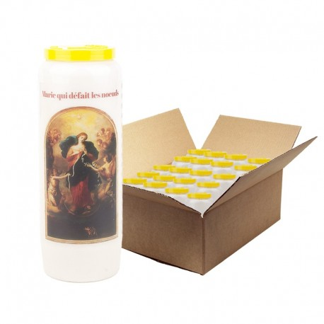 Candle of Mary Novena that undoes the Knots - 20 pieces