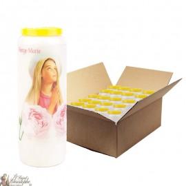 Bougies de Neuvaine Je vous salue Marie - 20 pièces