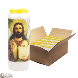 Bougies de Neuvaine Jésus prière - 20 pièces