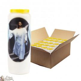Bougies de Neuvaine Jésus ressuscité  - 20 pièces