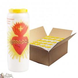Novena kaarsen dankzij het hart van Jezus - 20 stuks