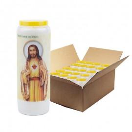 Bougies de Neuvaine merci au cœur de jésus - 20 pièces