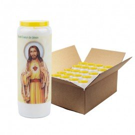 Novena candles thanks to the heart of Jesus - 20 pieces