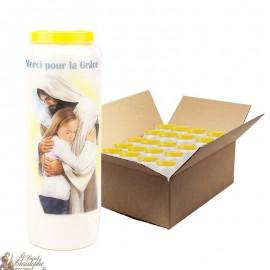 Bougies de Neuvaine merci pour une grâce - 20 pièces