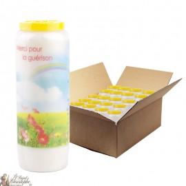 Bougies de Neuvaine merci pour une guérison - 20 pièces