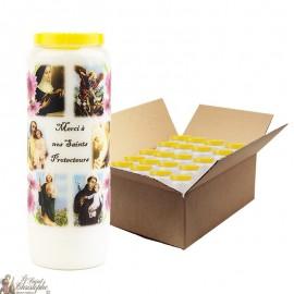 Bougies de Neuvaine merci à nos Saints protecteurs - 20 pièces