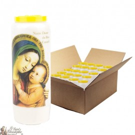 Virgin Novena Candles Mary of Good Advice - 20 pieces