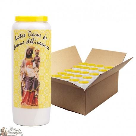 Bougies de Neuvaine Notre Dame du Bon conseil - 20 pièces