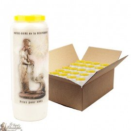 Virgin Mary Novena candles of good delivery - 20 pieces