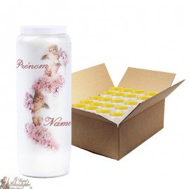 Angel Novena candles customizable first names - 20 pieces