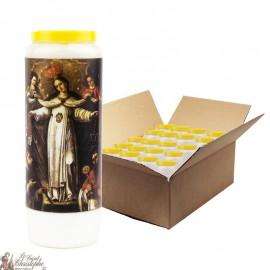 Bougies de Neuvaine Notre Dame de la merci - 20 pièces