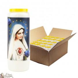 Bougies de Neuvaine Fatima - 20 pièces