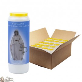 Bougies de Neuvaine notre dame de la Justice - 20 pièces