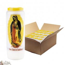 Vela de la Virgen María Novena de Guadalupe - 20 piezas