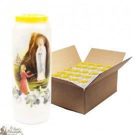 Virgin Mary of Lourdes Novena candles - 20 pieces