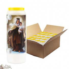 Bougies de Neuvaine Vierge marie du Mont Carmel  - 20 pièces
