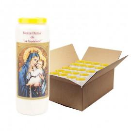 Bougies de Neuvaine Notre Dame de la guérison - 20 pièces