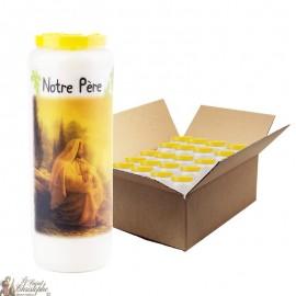 Bougies de Neuvaine Notre père prière - 20 pièces
