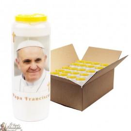 Bougies de Neuvaine Pape François - 20 pièces