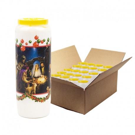 Bougies de Neuvaine Noël - 20 pièces