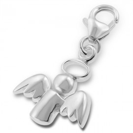 Pendant protective angel charm - silver 925