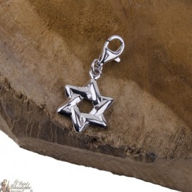 Pendant star of David charm - silver 925