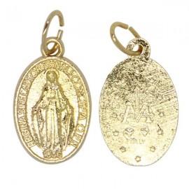 Medalla Virgen Milagrosa metal dorado