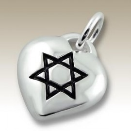 Pendant heart star of David - Silver 925
