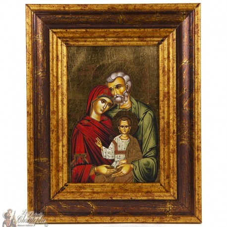 Icone cadre Sainte Famille 18 x 22cm