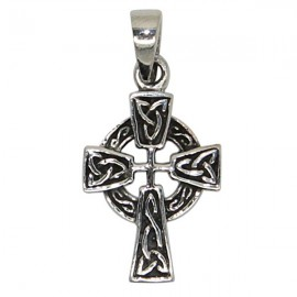 Pendentif croix Celtique - véritable Argent 925