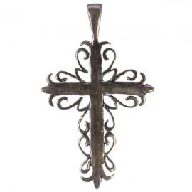 Pendentif croix Byzantine- véritable Argent 925