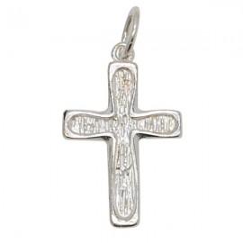 Pendentif croix stylisée - véritable Argent 925